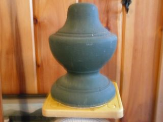 Vintage Architectural Salvaged Wood Finial Porch Rail Top photo