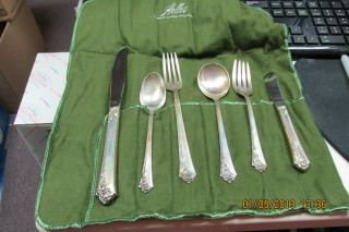 Oneida Heirloom Sterling Silver Damask Rose Six Piece Place Setting With Wrap 3 photo