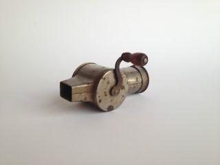 Antique Mechanical Hand Turned Nutmeg Grater Works Ca:1890 - 1910 photo