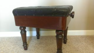 Quartersawn Oak Piano Bench/organ Stool photo