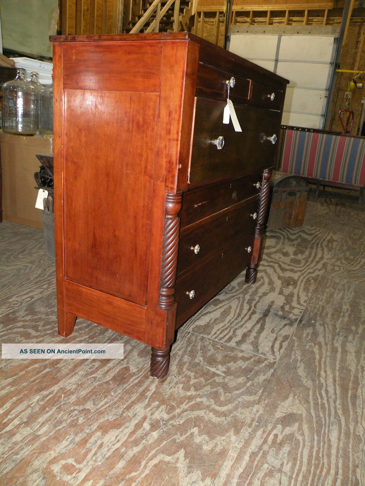 Antique Drop Front Secretary Desk