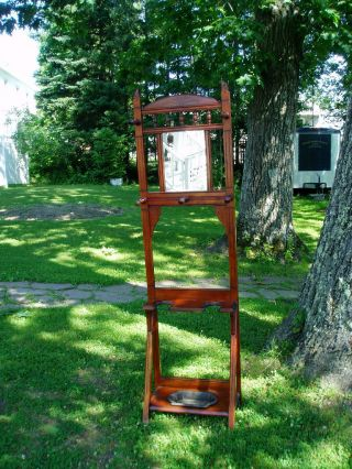 Sweet Victorian Hall Stand W/cast Iron Drip Tray photo