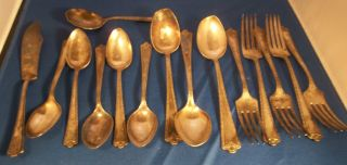 3.  8 Pounds Of Rare S.  Rockford & Co.  5 Silverware Flatware/peerless/rogers photo