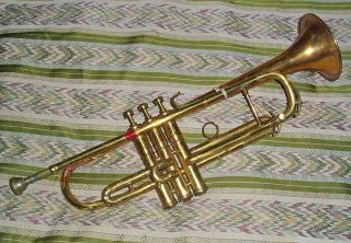 Antique C1930 C.  G.  Conn Ltd Elkhart Usa Trumpet Serial No 361306 22b All Stamped photo