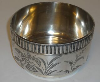 Vintage Silverplate Etched Bowl / Candy Dish photo