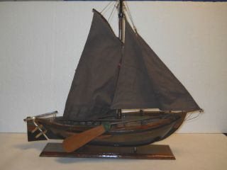 Nautical Collectible Wooden Dutch Botter 1900 ' S Style Model Ship From A.  M. photo