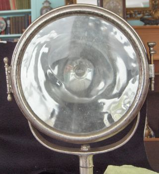 Antique Vintage Brass/nickel Searchlight Spotlight -