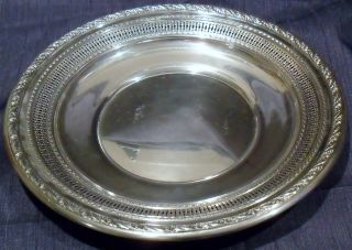 Wallace Sterling Silver Plate Serving Dish Platter 4056 - 3 192 Grams 9 1/4