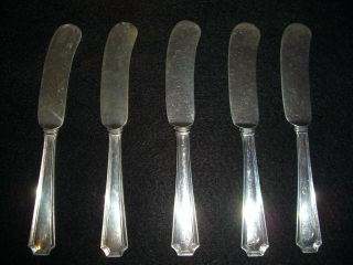 5 Fairfax Sterling Silver Butter Knives By: Gorham photo