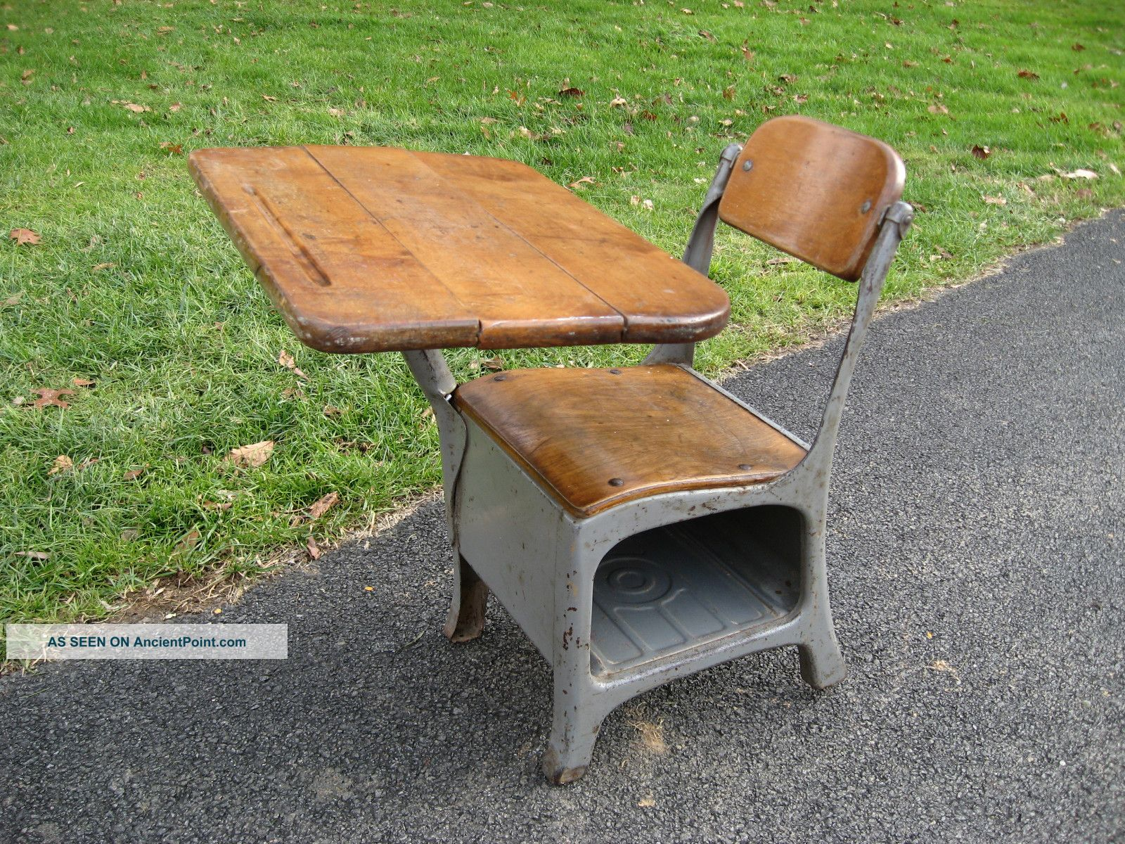 antique vintage school house small child s desk and chair mid century
