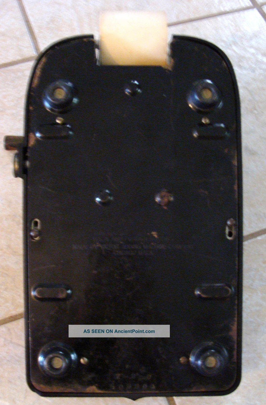 Vintage 1940 ' S Victor Black Bakelite 10 Key Adding Machine