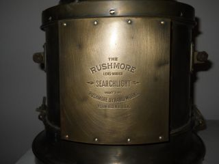 Vintage Rushmore Searchlight Lens - Mirror Rushmore Dynamo Works Headlight photo