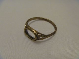 Lovely Detailed Gold Ring,  Metal Detecting Find,  Saxon / Viking / Medieval photo