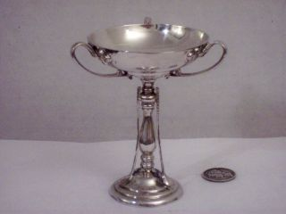 A Rare James Dixon&sons English 1907 Antique Sterling Sports Cup Trophy Hallmrkd photo