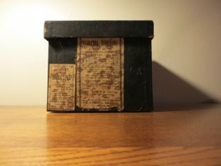 Antique Cardboard Druggist Box For Bottles/label: Pearce ' S Special Cough Syrup photo