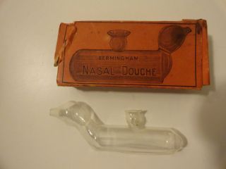 Antique Glass Bermingham Nasal Douche Vintage Medicine Divice photo