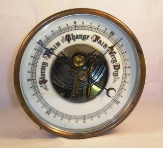Antique Pocelain Dial Barometer G43 photo
