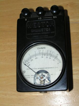 Vintage Weston Ohmmeter Model 689 Type 1 - F Bakelite photo