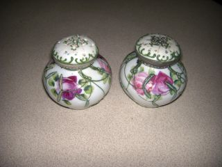 Vintage/antique Hand - Painted Salt And Pepper Shaker,  2.  5