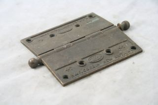 Antique Bronze Corbin Bronze Hinges 4 1/2 X 4 1/2 photo