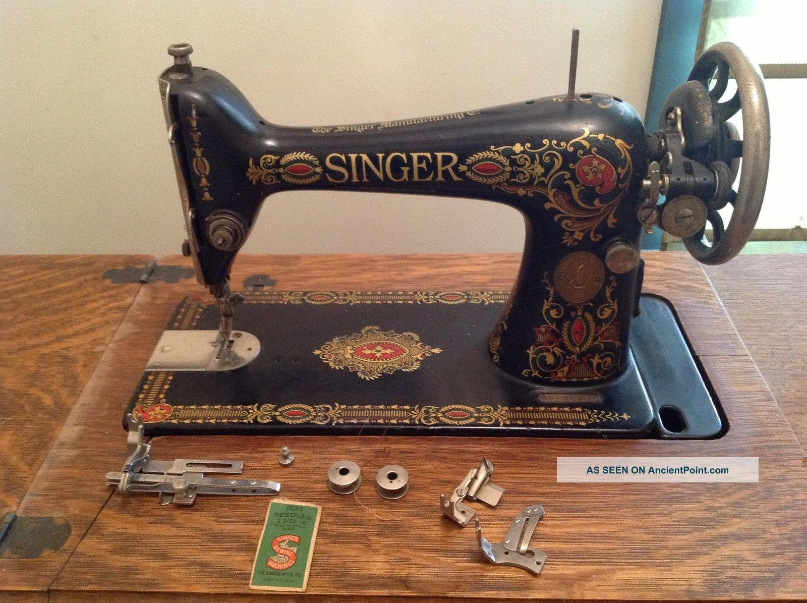 antique sewing singer machine