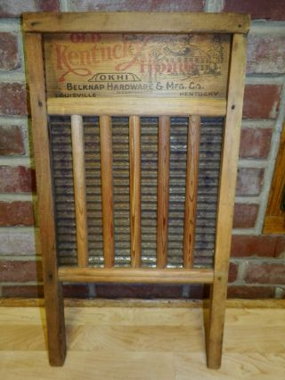 Antique Old Kentucky Home Okhi Washboard Primitive Belknap Hardware Co Kentucky photo