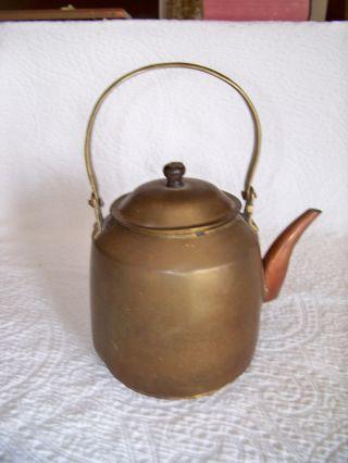 Antique Brass Tea Pot photo