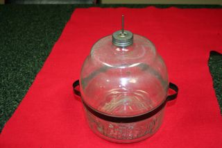 Antique Glass Oil Container For Stove (1913) Mint Condition - Valve Works Perfect photo