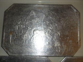 Antique Pressed Foil Trivets photo
