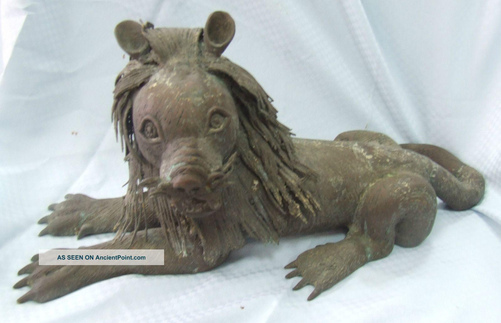 Benin Old Bronze Sculpture