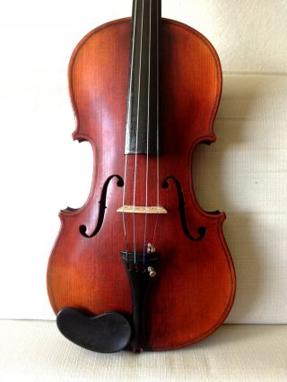 Old Antique 4/4 German Violin Stamped Heidl Powerful Tone - See Video photo