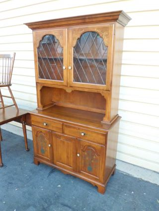 50944 Hitchcock 2 Pc.  China Cabinet Breakfront photo