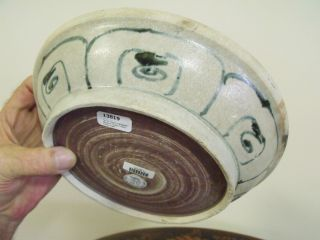 Hoi An Shipwreck Large Peony Plate,  600 Year Old,  Ming,  Official Recovery Stickers, photo