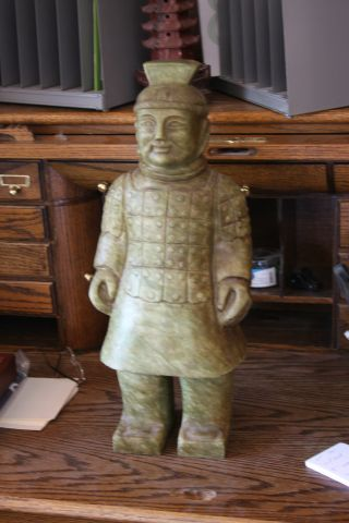 19th Century (1800 ' S) Solid Jade,  Chinese Sculpture,  Handcarved photo