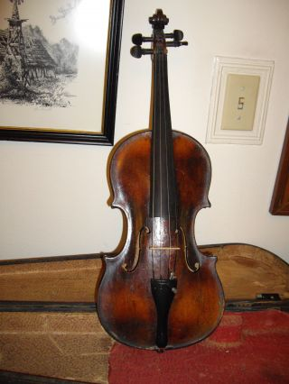 Antique Fiddle In photo