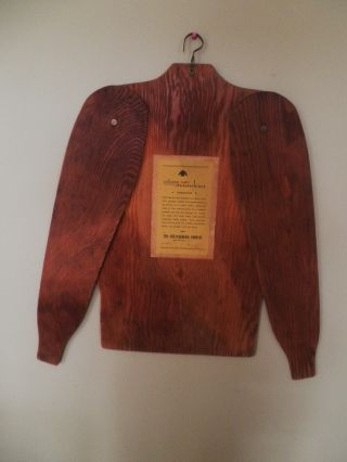 Williams Perfect Sweaterblock Wooden Form (great Shop Display Piece) photo