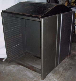 Very Large Steel Empty Cabinet,  Steel Table Tops. photo