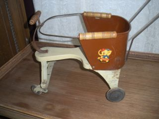Vintage Turner Toy Company Wapakoneta,  Ohio Baby Stroller Metal photo