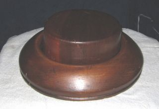Fantastic Vintage Wooden Hat Mold,  Block,  Millinery National Chicago,  Ill. photo
