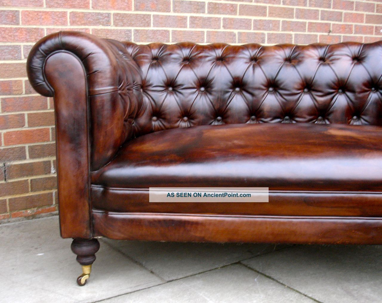 Pleasant Antique 19Thc Leather Chesterfield Sofa Drop Arm Hand Full Download Free Architecture Designs Scobabritishbridgeorg