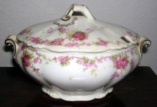 Antique C.  1900 English George Jones Porcelain Sauce Tureen photo