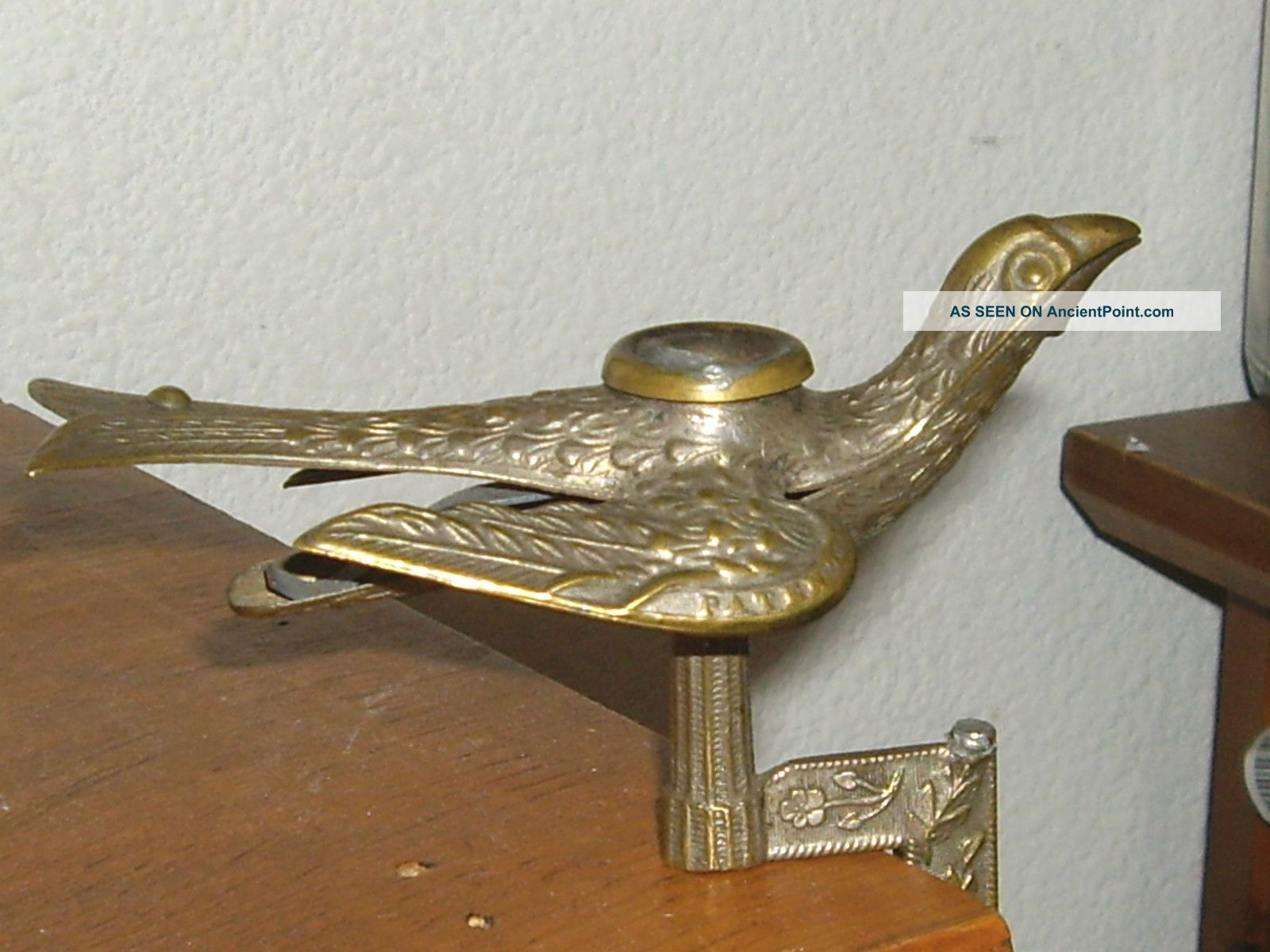 Detailed Early Victorian Sewing Bird Antique Brass Other photo