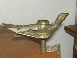 Detailed Early Victorian Sewing Bird Antique Brass photo