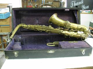 1922 - 23 Antique New Wonder Series Saxaphone C - Melody (c - Tenor) photo