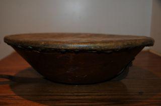 Antique 1800 ' S Hand Drum Made In U.  S.  A.  Fibrotta Drum Leather Skin Percussion photo