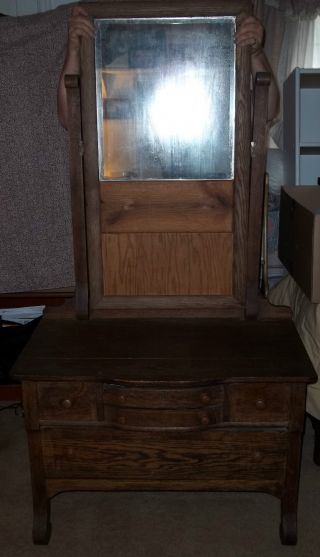 Antique Mirror Dresser Local Pickup Only photo