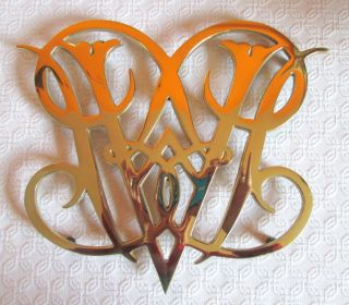 Queen Ann Cypher Williamsburg Brass Trivet 1950 Cw10 - 10 Vintage Collectible Euc photo