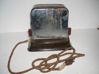 Vintage Kwikway K - 50 - 0 Steel Flip Door Electric Toaster With Cord. photo