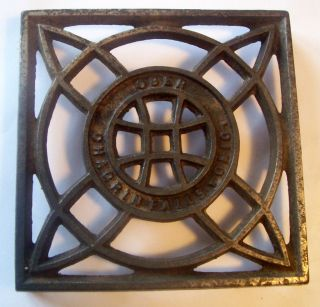 Antique Ober Cast Iron Kettle Trivet Chagrin Falls,  Ohio photo