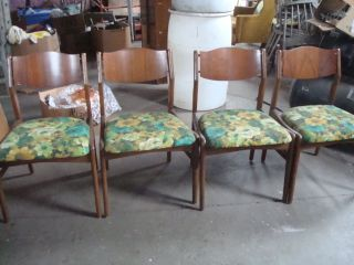 Mid Century Modern Kitchen Set Table And 4 Chairs photo